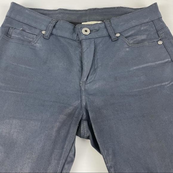 Witchery Shiny Wet-look Navy Jeans Size 6